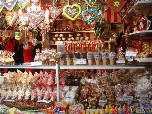 Christkindelmarkt - Christmas Markets in Vienna  The 'Christkindlmarkt' on the square in front of...