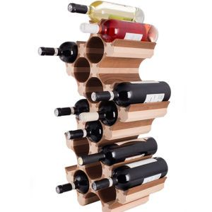 20 Bottle Wood Wine Rack
