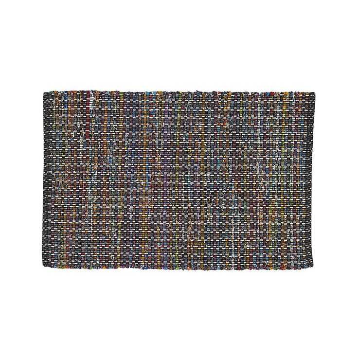 Pinstripe Black 2'x3' Rug | Crate and Barrel