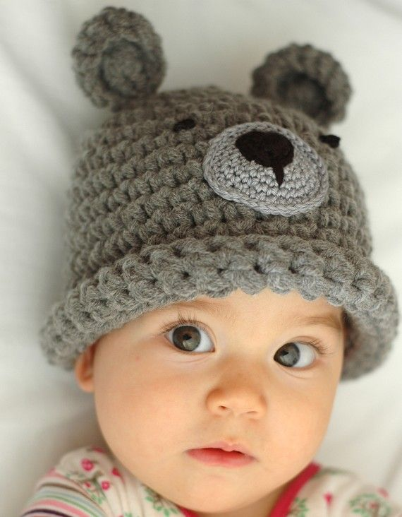 Newborn Baby Bear Beanie Available size up to 3 Months by beliz82, $20.00