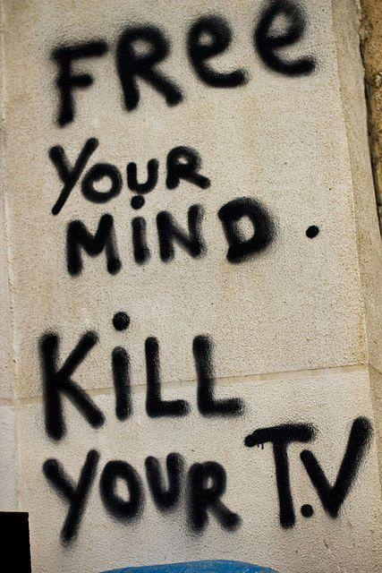 Free your mind. Kill your TV.