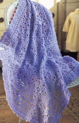 Lacy Lilac Blanket Crochet Pattern freebie, just lovely, thanks for the share xox