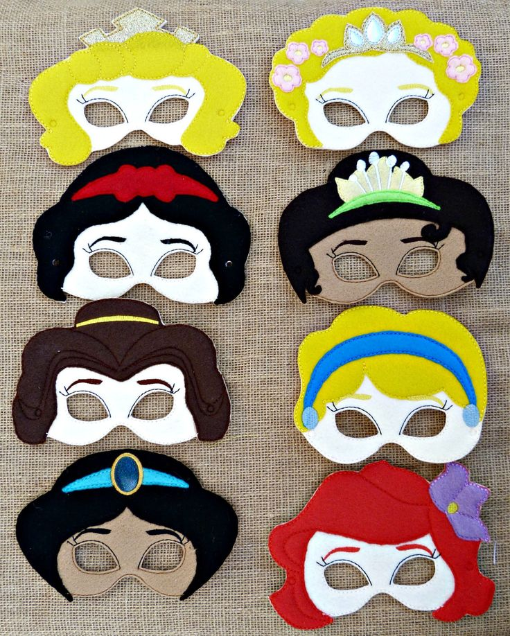 Princess Inspired Felt Masks Dress up Party Favor by FrillyLane on Etsy