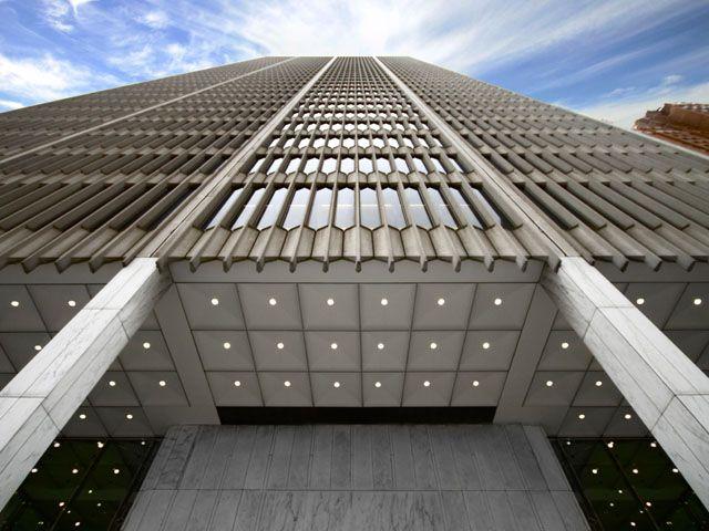 One woodward building detroit architect minoru yamasaki 39 s for Detroit architectes