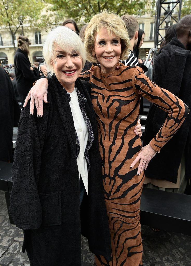 Helen Mirren si Jane Fonda, pe catwalk la Saptamana Modei de la Paris