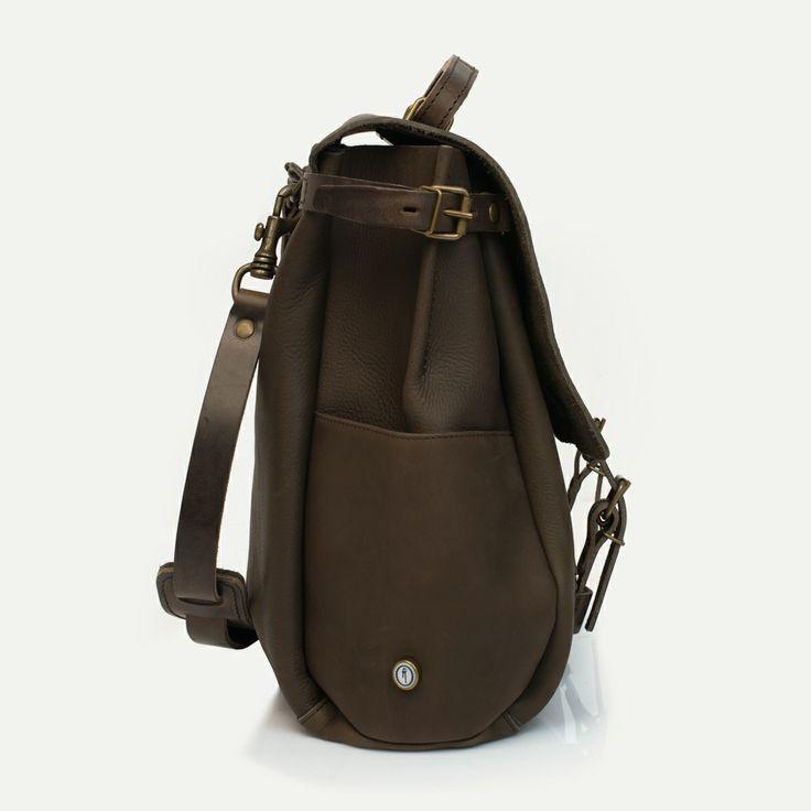 Irving Postman bag Kenya. 48 hours business bag, Bleu de Chauffe. Made in France