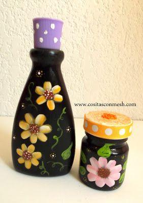Como reciclar frascos de vidrio o plástico ~ cositasconmesh