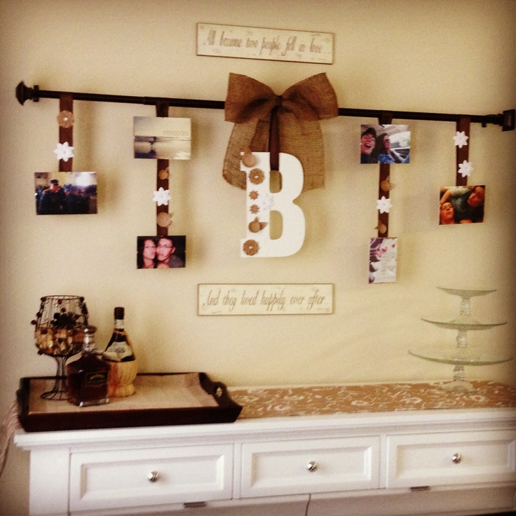 buffet table decorating ideas for my kitchen i love the burlap bow