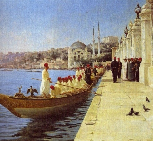 Boats of the Sultan Dolmabahce Istanbul