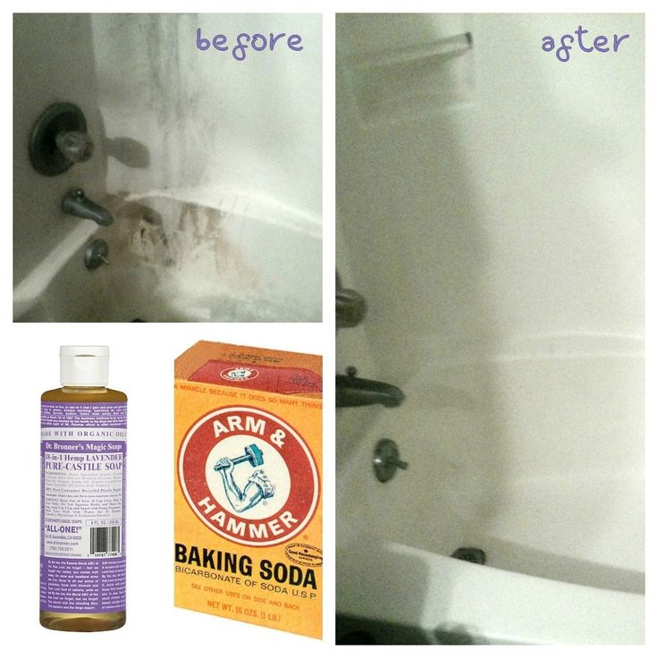 All natural soft scrub,,,really cleans soap scum.