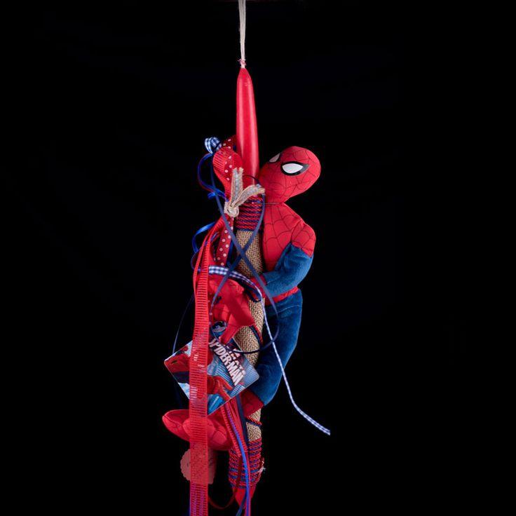 Πασχαλινη Χειροποιητη Λαμπαδα Spiderman  #πασχα #ανασταση #easter #2017 #tarantella #handmade #handcraft #shopping #λαμπαδα