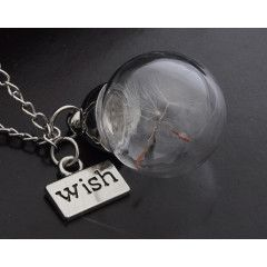 JEWELRY MAGICAL MAKE A WISH GLASS PENDANT - LET YOUR WISHES COME TRUE