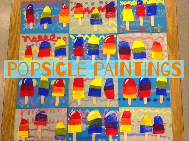 Painting Popsicles is a fun way to explore color mixing, especially for first graders. We used...