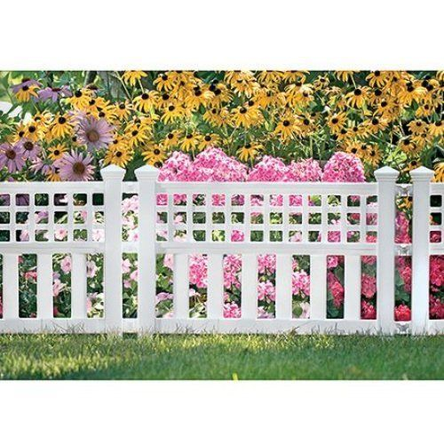 Garden Border Fence 3-Pack Yard Lawn Decoration Easy Fencing NEW White #1