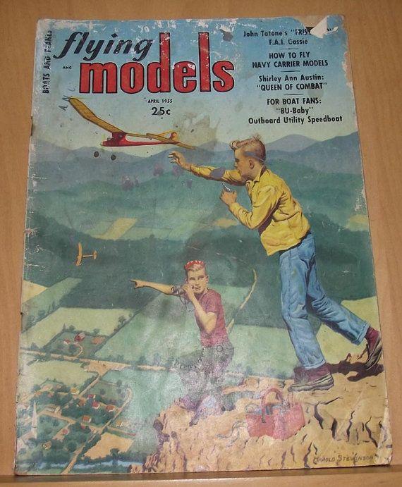 Flying Models Magazine April 1955 by DaytonaVintage on Etsy, $7.55
