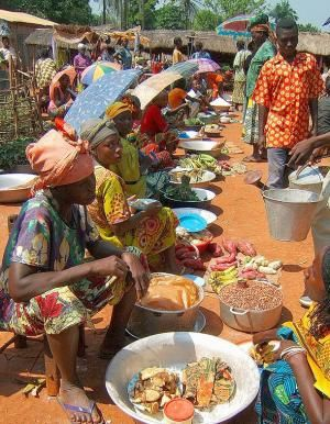 Market in the Democratic Republic of Congo