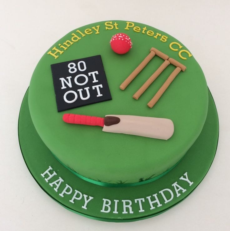 Cricket theme cake More More