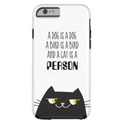 Fat Cat Black Cool Cartoon Funny Cute Person Love Tough iPhone 6 Case  $36.40  by tetkagargamela  - cyo customize personalize unique diy idea