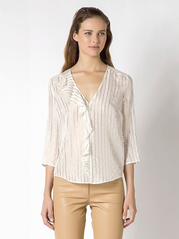 Long-sleeve blouse in silk blend   | Emozioni Boutique