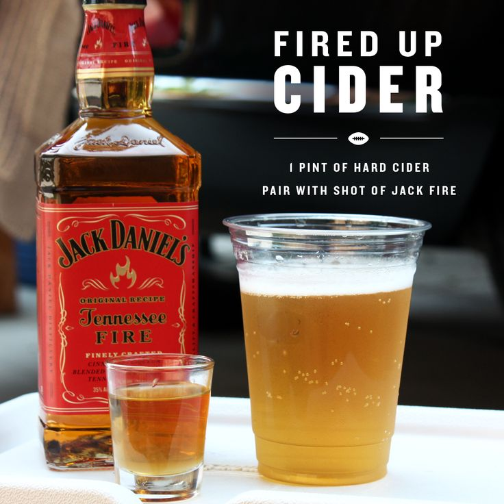 Hit pregame warm-ups with the official cheersleader of tailgate season. Enjoy a pint of hard cider paired with a shot of Jack Fire.