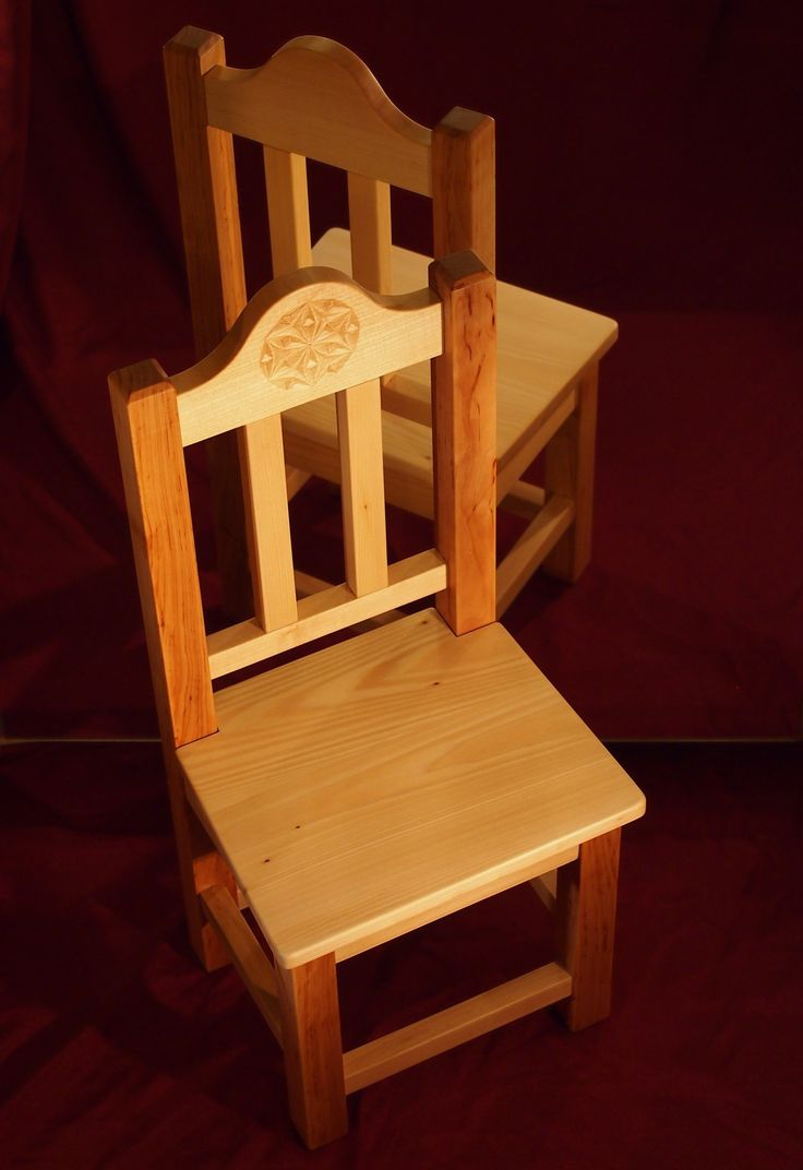 Handmade wooden chair made from alder & linden wood.