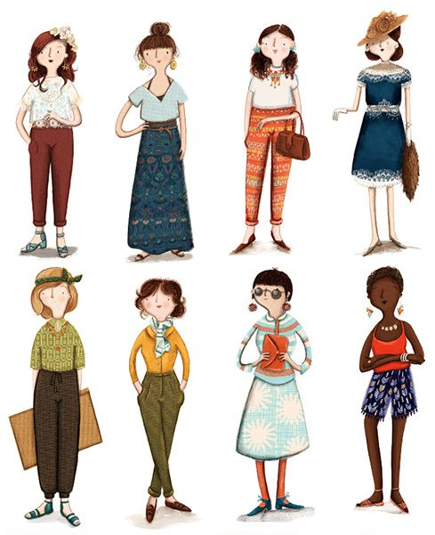 Fashion, Character Designs by Kristyna Litten