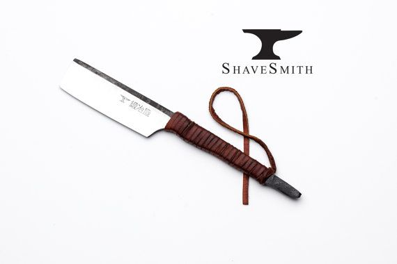 Japanese Straight Razor kit with Strop of Your Choice Featuring Shave Ready ShaveSmith Kamisori, Straight Handle Straight Razor