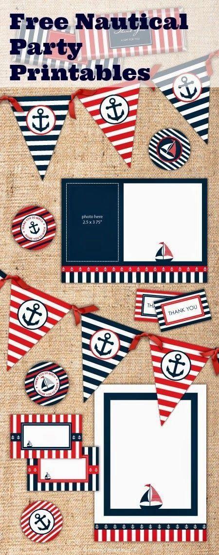 Ya he encontrado el tema de esta semana  Empiezo con motivos marineros   Espero que os gusten  Enlace:   http://catchmyparty.com/blog/free-n...