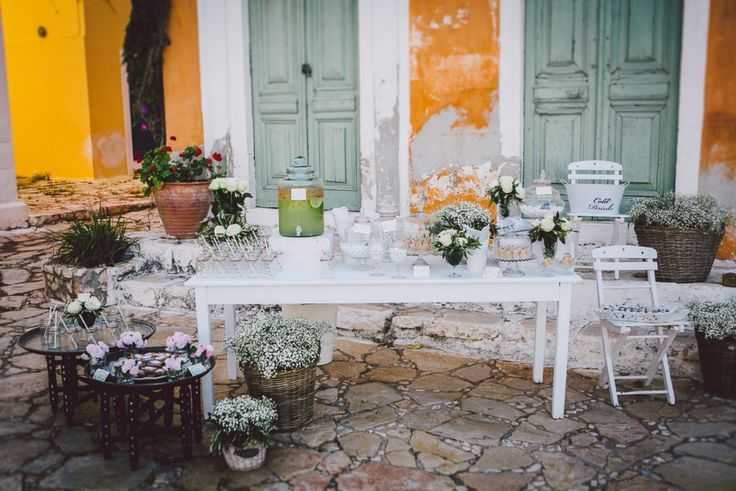 A beautiful welcome table in Kastelorizo!