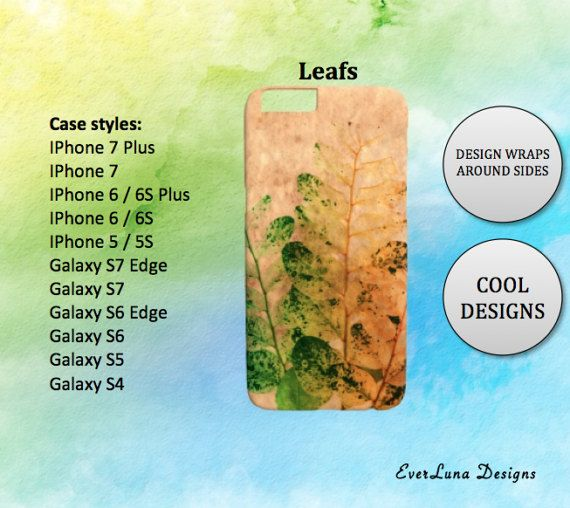 Leafs iPhone 7 Case iPhone 7 Plus Case iPhone 6 by EverLunaStore