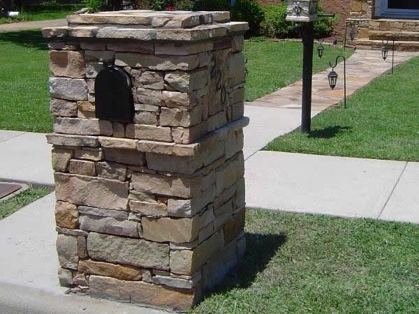 Residential Stone Columns : Best images about stone mailboxes on pinterest brick