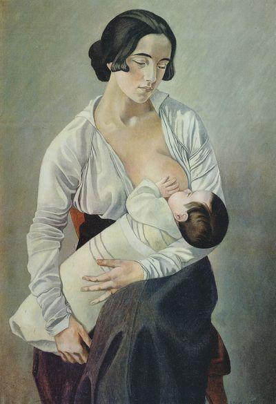 Maternity, 1916 - Gino Severini - WikiArt.org