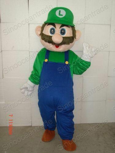 Super Mario Luigi Adulte Mascotte Costume Halloween Fr #Ad , #Ad, #Luigi#Adulte#…