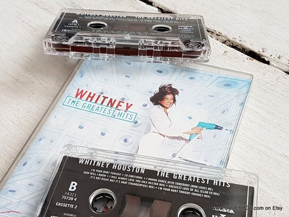 2 vtg WHITNEY HOUSTON Cassette The greatest Hits BMG 1980s-2000 retro Tape vintage Whitney 35 songs Arista Record tape collectible H05/619