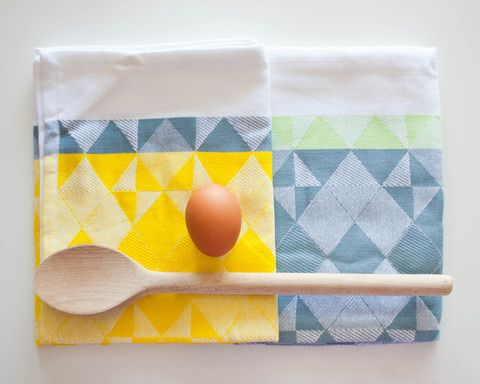 Woven Tea Towels - Yellow/Grey (2 Pack): Home Products, Teas Towels, Woven Towels, Hands Woven, Woven Teas, Yellow Grey, Kitchens Products, Fun Giveaways, Fun Kitchenware