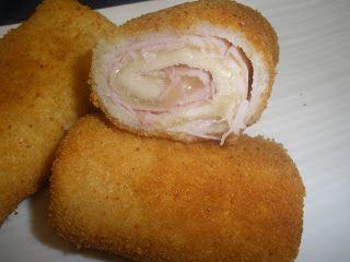 .: Flamenquines de jamón y queso con pan de molde