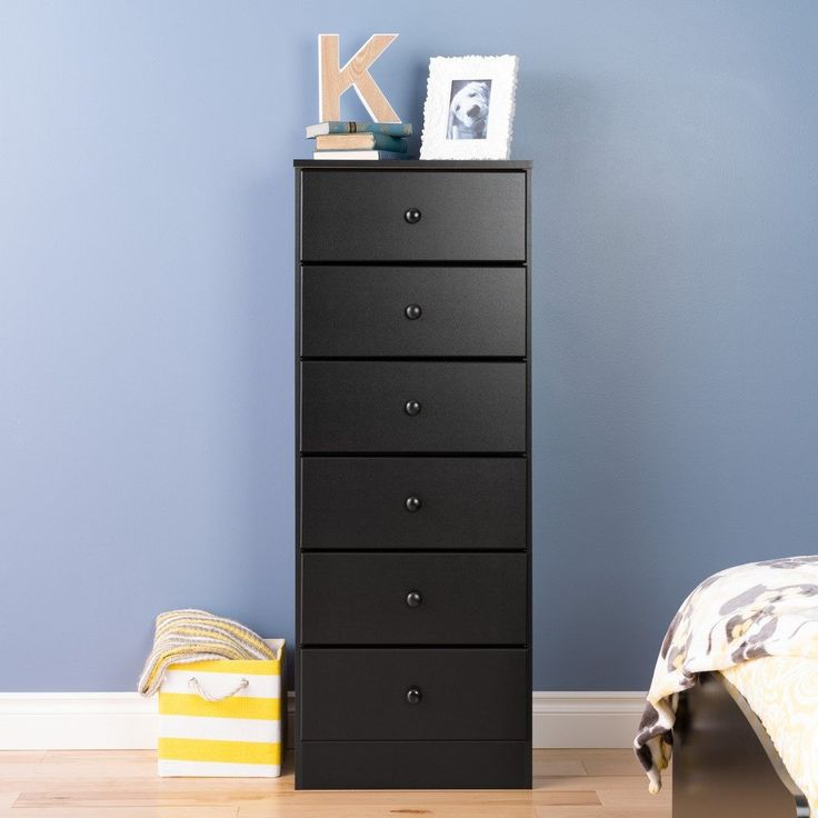 Astrid 6-Drawer Tall Chest, Black – Wholesale Furniture Brokers