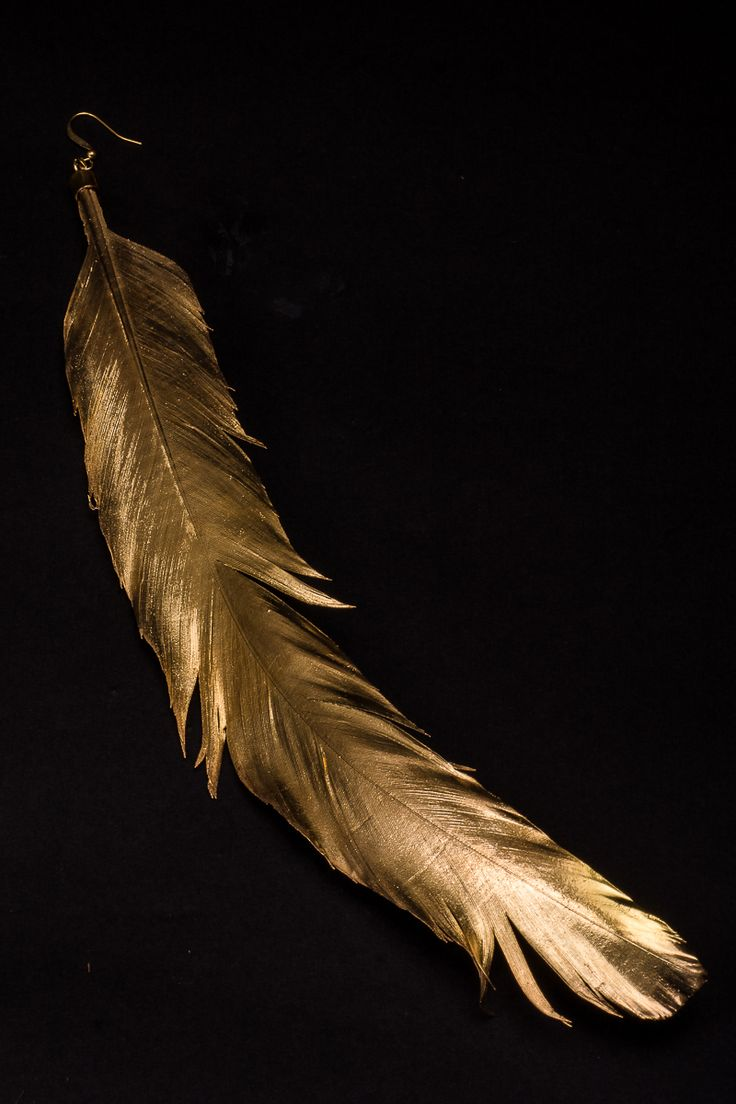 Icaro, Aro hecho de una pluma de gallo y bañada en oro.