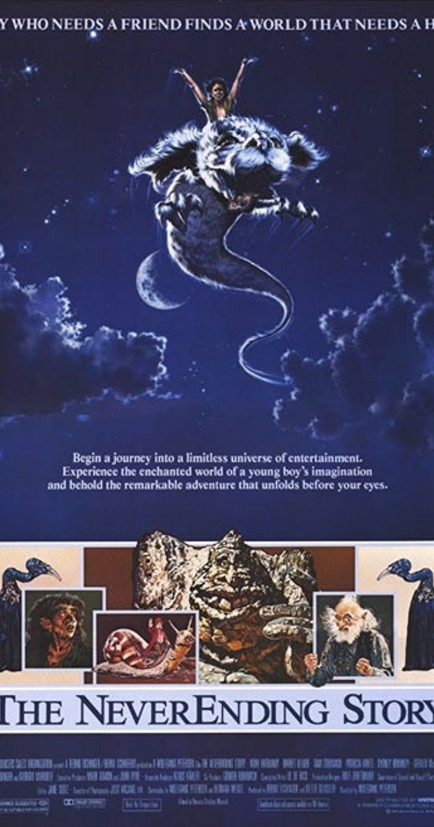 The Neverending Story(1984)Directed by Wolfgang Petersen. With Noah Hathaway, Barret Oliver, Tami Stronach, Gerald McRaney. A troubled boy dives into a wondrous fantasy world through the pages of a mysterious book.
