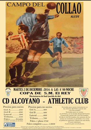 Eliminatoria Copa del Rey Alcoyano - Athletic Club