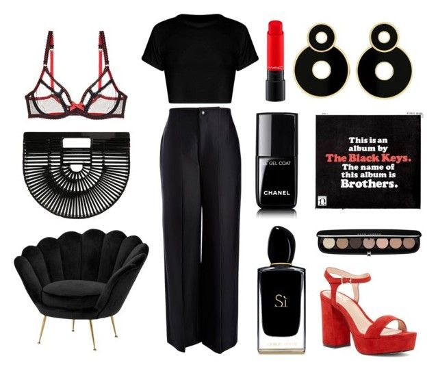 """Lonely boy"" by matildetilde on Polyvore featuring moda, Shellys, Joseph, Chanel, Eichholtz, Giorgio Armani, Marc Jacobs, Cult Gaia y L'Agent By Agent Provocateur"