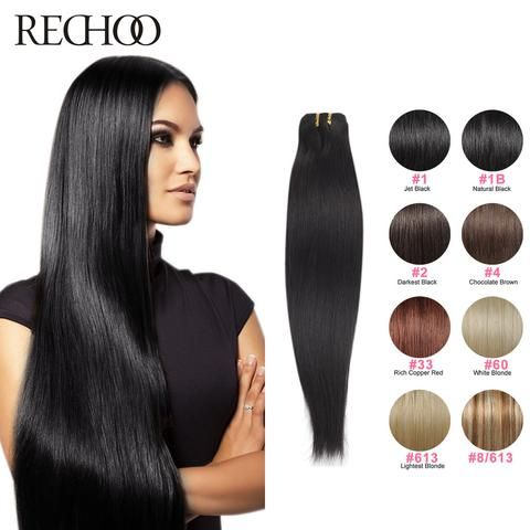 Remy Hair Straight Extensions Without Clips - Elegance Gallery