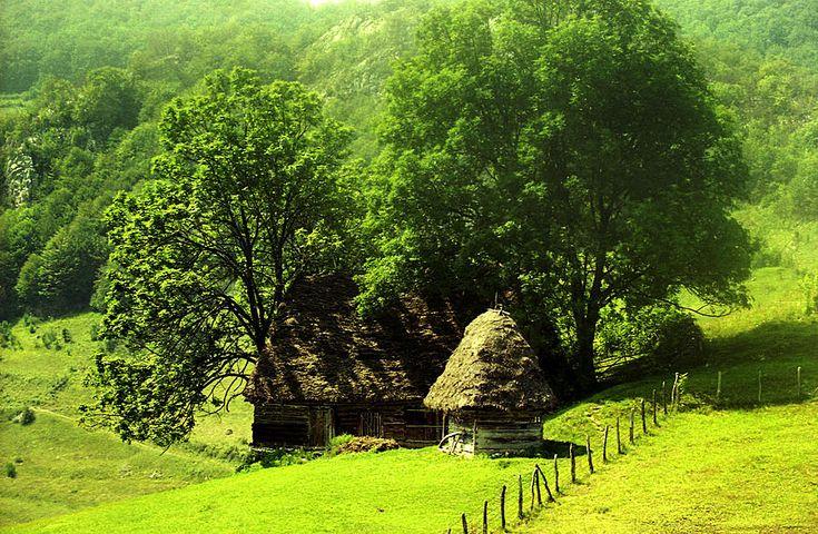 Traditional home in Apuseni, Romania.