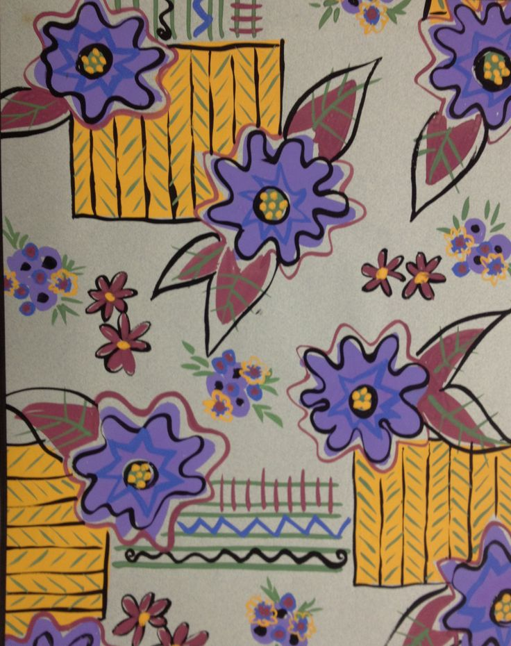 Fifties inspired floral  for dress  fabric.
