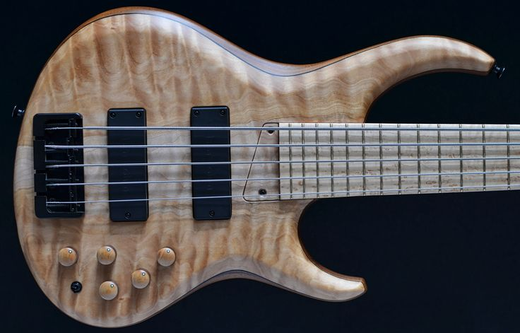 MTD 535-24 Quilted maple, top, Walnut body, bird's eye maple f/b five string Direct - Mike Tobias, MTD,, For sale, UK, EU, Warwick USA On offer to buy