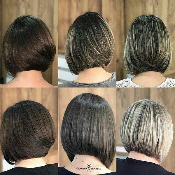 Bob Haircut Back Views Popular Bob Hairstyles 2019 Hair Styles Wavy Bob Hairstyles Bob Hairstyles