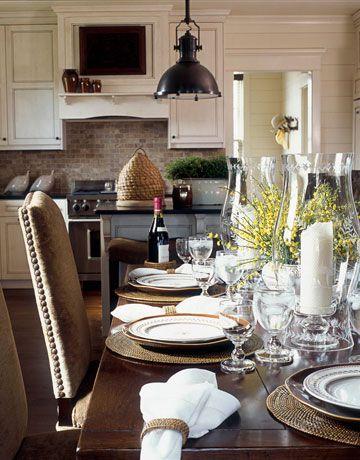 : Dining Rooms, Tables Sets, Lights Fixtures, Phoebe Howard, Memorial Tables, Kitchens Backsplash, Pendants Lights, House, Decor Blog