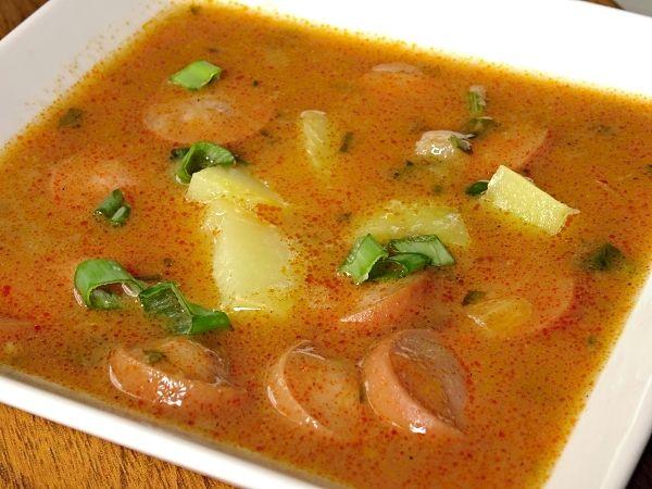 Recept na Frankfurtská polévka s brambory