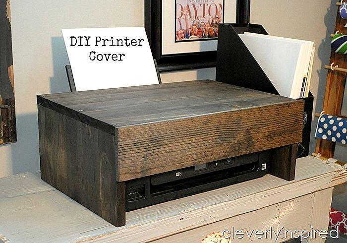 DIY Printer Cover   Cleverly Inspired   Bloglovin'