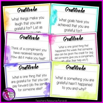 Weekly gratitude prompts for a whole year!